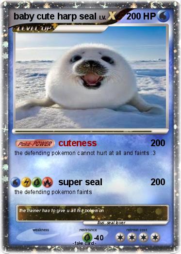 Pokémon baby cute harp seal - cuteness - My Pokemon Card