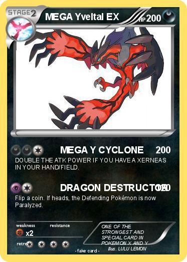 Pokémon MEGA Yvel... Xerneas Card