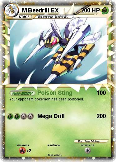 M Beedrill Ex Pokémon M Beedril...