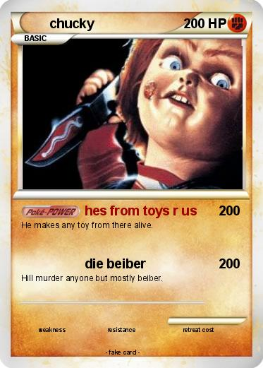 Pok 233 mon chucky 191 191 hes from toys r us my pokemon card