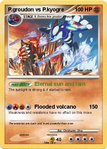 Pok mon p groudon vs p kyogre eternal sun and rain my for Pokemon picross mural 2
