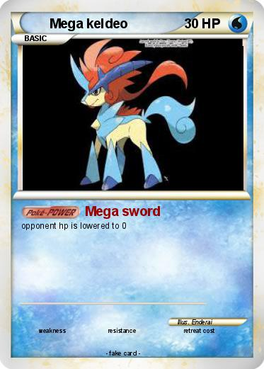 Pokémon Mega keldeo 5 5 - Mega sword - My Pokemon Card