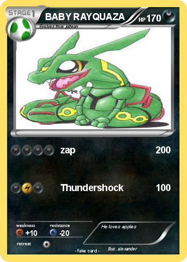 Pokémon BABY RAYQUAZA 64 64 - zap - My Pokemon Card