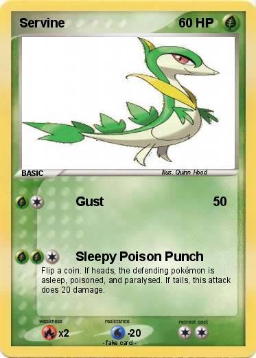 Pokémon Servine 73 73 - Gust - My Pokemon CardServine Pokemon Card