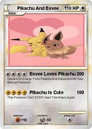 Pikachu And Eevee Kiss