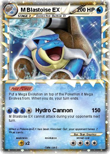 Pok 233 Mon M Blastoise Ex Hydro Cannon My Pokemon Card