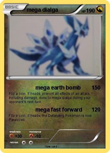 Pokémon mega dialga 14 14 - mega earth bomb - My Pokemon Card