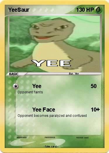 Pokmon YeeSaur Yee My Pokemon Card
