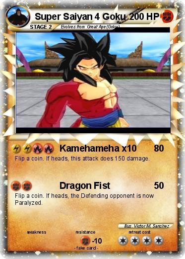 Goku Super Saiyan 4 Kamehameha X10 Pokemon super saiyan 4 gokuGoku Super Saiyan 4 Kamehameha X10