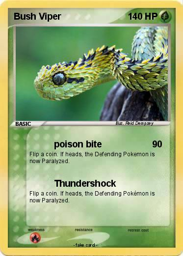 Pokemon Bush Viper 1