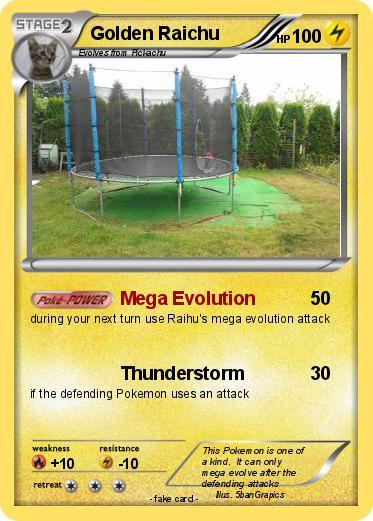 Pok mon golden raichu 2 2 mega evolution my pokemon card - Pokemon x raichu mega evolution ...
