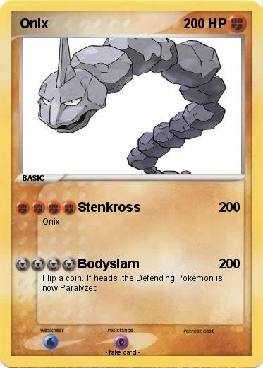 Pokémon Onix 394 394 - Stenkross - My Pokemon Card