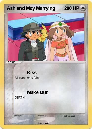 Pok 233 mon ash and may marrying kiss my pokemon card