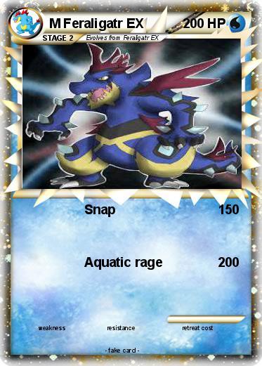 Pokémon M Feraligatr EX 2 2 - Snap - My Pokemon Card Shiny Feraligatr Card
