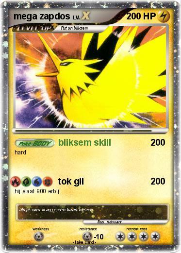 Pokémon mega zapdos 5 5 - bliksem skill - My Pokemon Card
