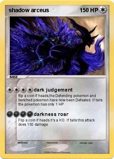 Pokémon shadow arceus 13 13 - dark judgement - My Pokemon Card