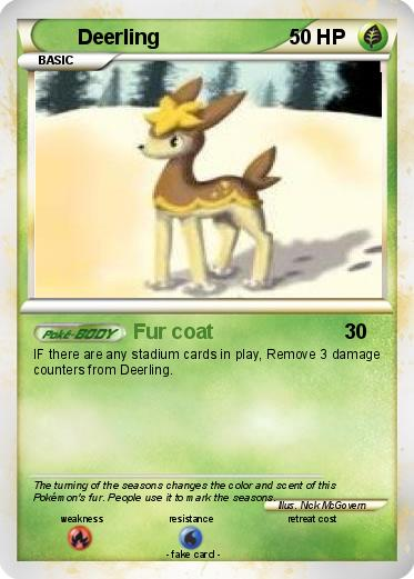 Deerling Pokemon Card Images