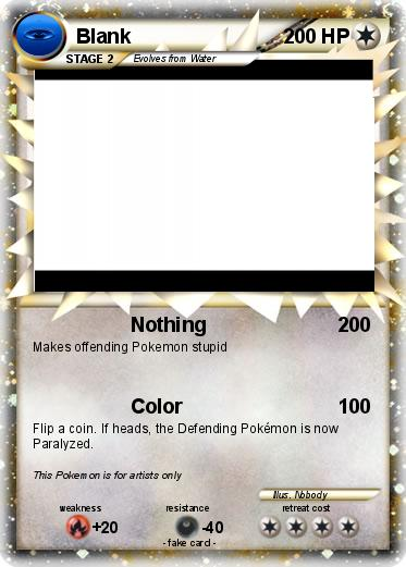 pokemon cards coloring pages - pok mon blank 59 59 nothing my pokemon card