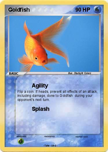 Pok mon goldfish 39 39 agility my pokemon card for Gold fish card game