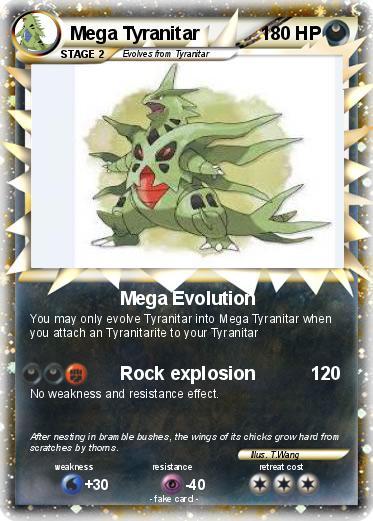 Pokémon Mega Tyranitar 5 5 - Mega Evolution - My Pokemon Card
