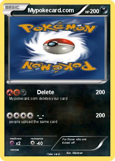 Pok mon mypokecard com 17 17 delete my pokemon card - Mypokecard com ...