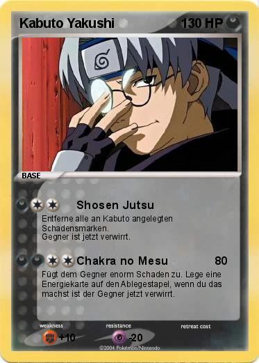 Pokémon Kabuto Yakushi 1 1 - Shosen Jutsu - My Pokemon Card
