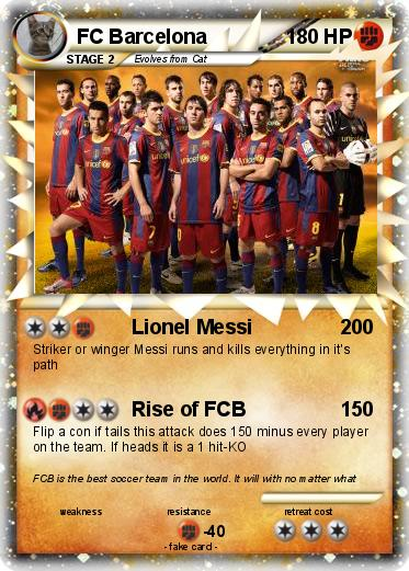 Pokémon FC Barcelona 7 7 - Lionel Messi - My Pokemon Card