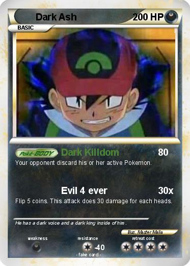 Pokémon Dark Ash 4 4 - Dark Killdom - My Pokemon Card
