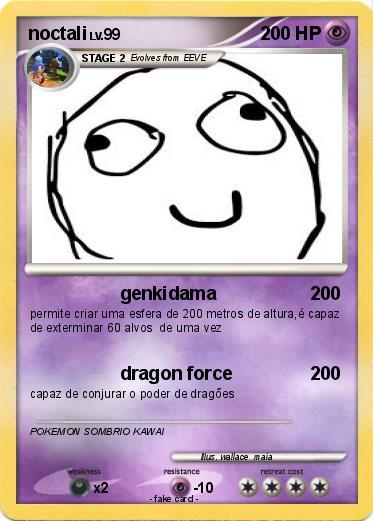 Pok mon noctali 494 494 genkidama my pokemon card - Pokemon noctali ...