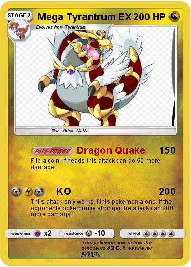 Pokemon Mega Tyrantrum Ex 3