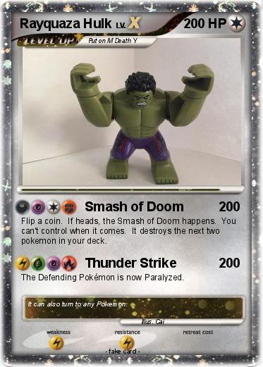 Pok mon rayquaza hulk smash of doom my pokemon card - Lego pokemon rayquaza ...