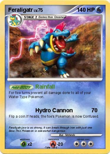 Feraligatr Card Pokemon feraligatrShiny Feraligatr Card