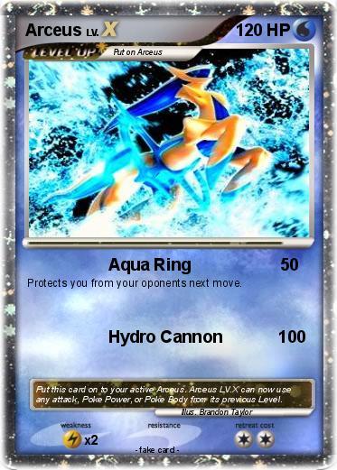 Pok mon arceus 4054 4054 aqua ring my pokemon card - Pokemon arceus ex ...