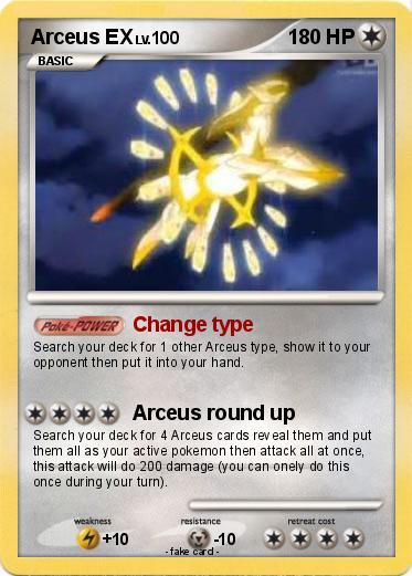 Pok mon arceus ex 272 272 change type my pokemon card - Pokemon arceus ex ...
