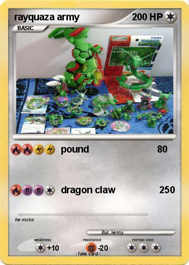 Pok mon rayquaza army rayquaza army pound my pokemon card - Lego pokemon rayquaza ...