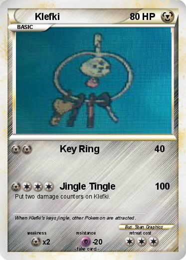 Pokémon Klefki 4 4 - Key Ring - My Pokemon Card