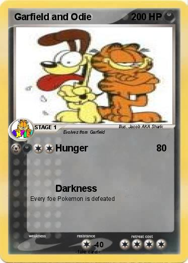pok mon garfield and odie 2 2 hunger my pokemon card. Black Bedroom Furniture Sets. Home Design Ideas