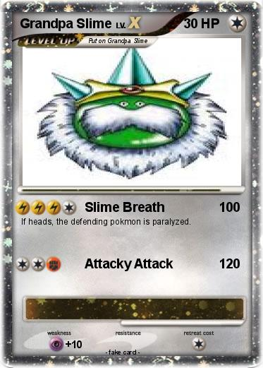 Pokémon Grandpa Slime - Slime Breath - My Pokemon Card