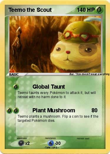Pokemon Teemo the Scout