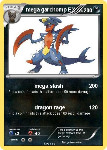 Pokémon mega garchomp EX 4 4 - mega slash - My Pokemon Card