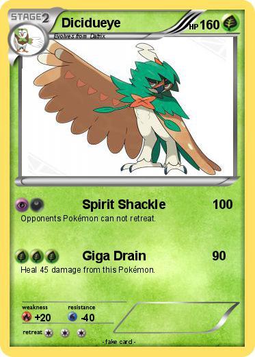 Pokmon Dicidueye Spirit Shackle My Pokemon Card