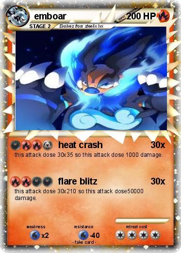Pokémon emboar 137 137 - heat crash - My Pokemon Card