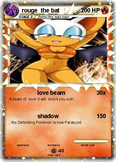 Pok 233 Mon Rouge The Bat 41 41 Love Beam My Pokemon Card