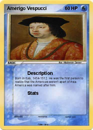 Pokmon Amerigo Vespucci 8 Description My Pokemon Card