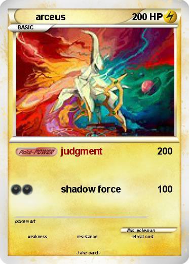 Arceus card english