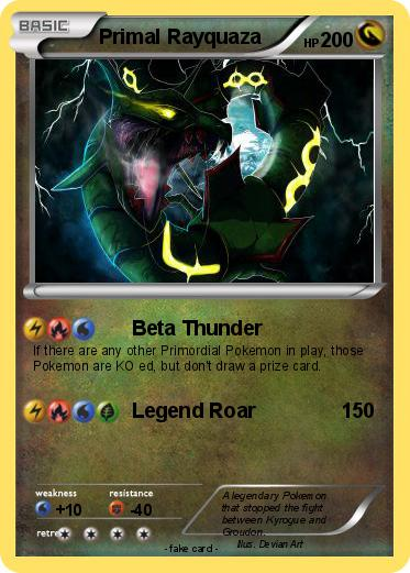 Pokémon Primal Rayquaza 4 4 - Beta Thunder - My Pokemon Card
