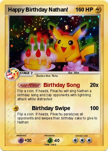 Pok 233 Mon Happy Birthday Nathan Birthday Song My Pokemon