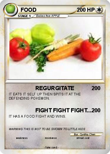 Pok mon food 55 55 regurgitate my pokemon card for Pokemon cuisine