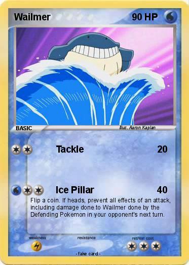 How to draw pokemon wailmer Wailmer Pokemon Card