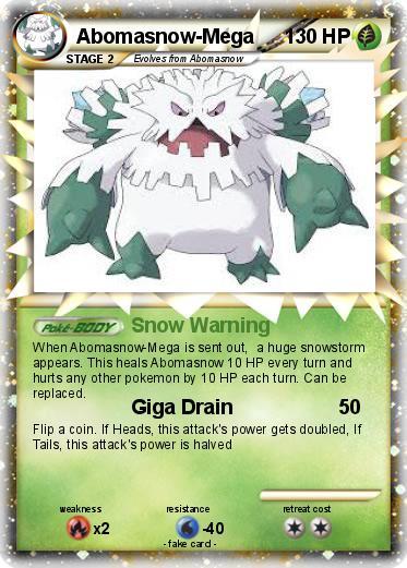 Pokémon Abomasnow Mega - Snow Warning - My Pokemon Card